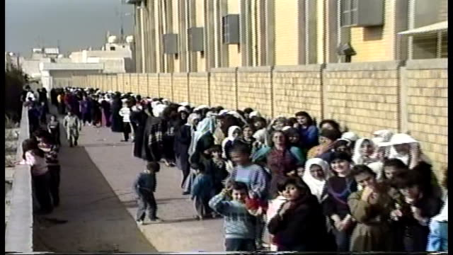 post liberation much of kuwait was without power and had limited access to necessities - soup kitchen stock videos & royalty-free footage
