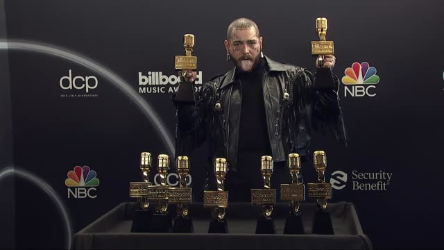 post malone at the 2020 billboard music awards - press room at dolby theatre on october 14, 2020 in hollywood, california. - the dolby theatre stock videos & royalty-free footage