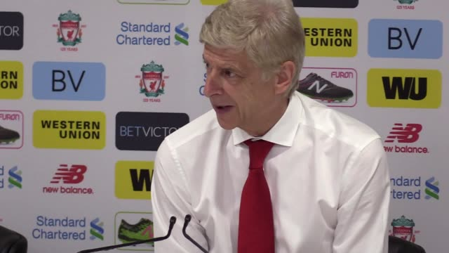 Post match press conference with Arsenal manager Arsene Wenger after the defeat against Liverpool 4 0