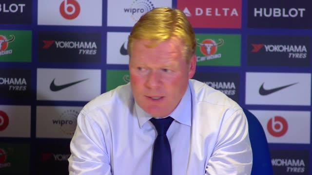 Post match press conference with Everton manager Ronald Koeman after his side's 20 defeat to Chelsea