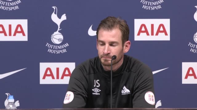 post match press conference with huddersfield manager jan siewert after their 4-0 defeat to tottenham. huddersfield have already been relegated from... - huddersfield town football club stock videos & royalty-free footage