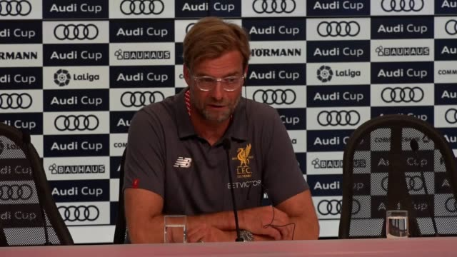 Post match press conference with Liverpool manager Jurgen Klopp after his side lost the Audi Cup final on penalties against Atletico Madrid