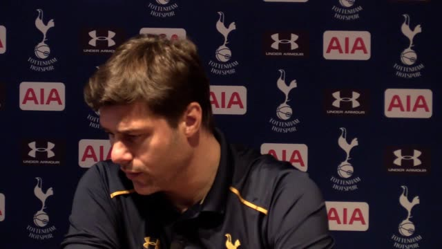 Post match press conference with Tottenham manager Mauricio Pochettino after his side's 40 win over Watford in the Premier League Tottenham kept up...