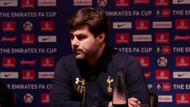 vidéos et rushes de post match press conference with tottenham manager mauricio pochettino following their 60 win over millwall in the fa cup quarterfinals - quart de finale