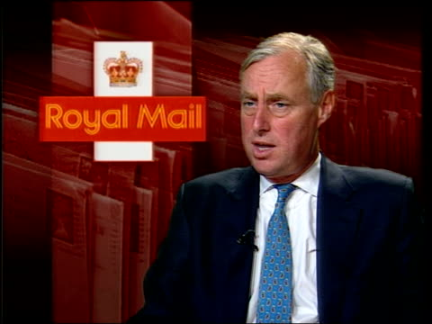 Workers reject strike calls ITN Tim Yeo MP interviewed SOT Discusses postal union Workers in mail room of mail order company Boden 'Royal Mail' on...