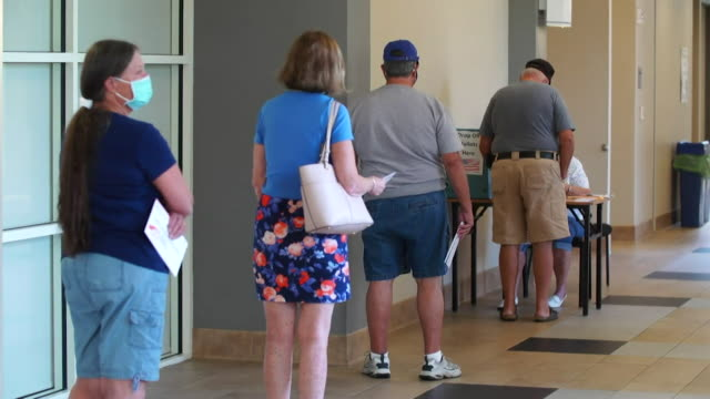 postal votes being cast in the usa presidential election 2020, at the villages in florida, usa's largest retirement community - large stock videos & royalty-free footage
