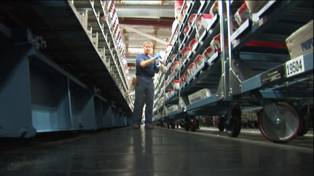 postal workers sort mail. - compartment stock videos & royalty-free footage