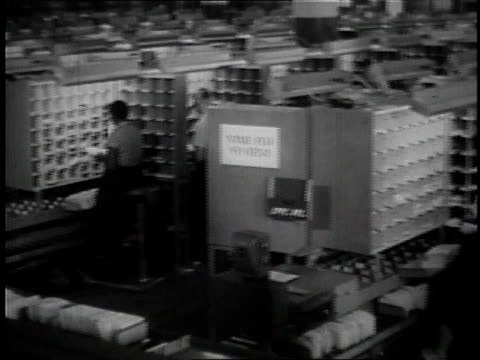 1957 ms postal workers sorting mail / united states - 1957 stock videos & royalty-free footage