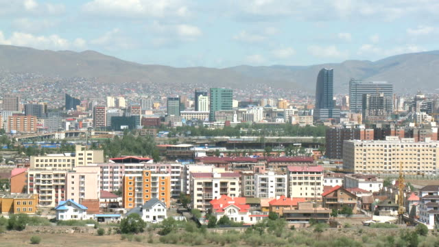 postcard view of ulaanbaatar, mongolia - independent mongolia stock videos & royalty-free footage