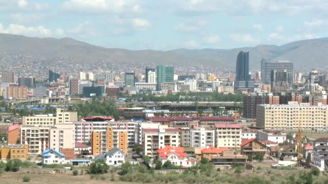 vídeos de stock e filmes b-roll de cartão postal de vista ulaanbaatarworld.kgm, a mongólia - ulan bator