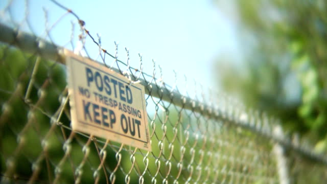 posted sign - no trespassing stock videos & royalty-free footage