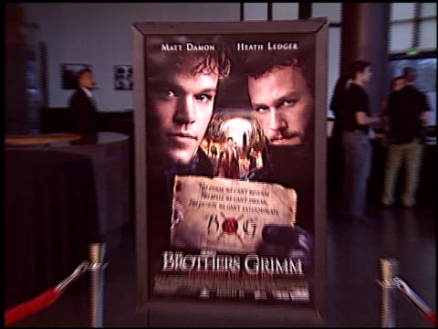 poster at the premiere of 'the brothers grimm' at dga theater director's guild in los angeles california on august 8 2005 - dga theater stock videos & royalty-free footage