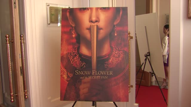 poster at the snow flower and the secret fan party 64th cannes film festival at cannes - festival poster stock videos & royalty-free footage