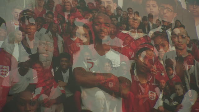 a poster featuring former pupil raheem sterling at the ark elvin academy in west london - poster stock videos & royalty-free footage