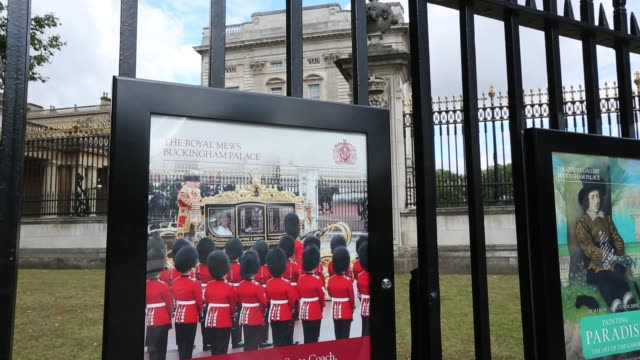 poster for the changeing of the guard at buckingham palace, london, uk. - military parade stock videos & royalty-free footage