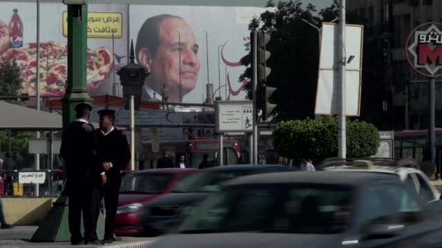 posters and billboards of egyptian president abdel fattah elsisi around cairo - president of egypt stock videos & royalty-free footage