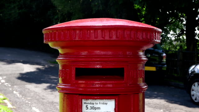Posting a package in a Red postbox