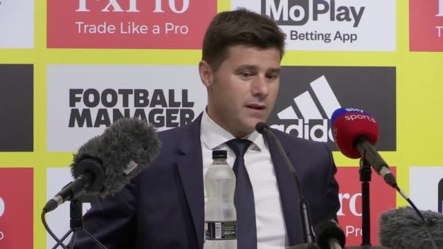 Postmatch conference with Mauricio Pochettino after Tottenham lose 21 to Watford at Vicarage Road