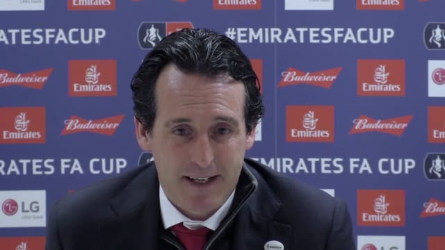Postmatch press conference with Arsenal manager Unai Emery after his side's 31 defeat to Manchester United in the FA Cup