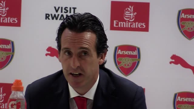 Postmatch press conference with Arsenal manager Unai Emery following his 31 win against West Ham in the Premier League