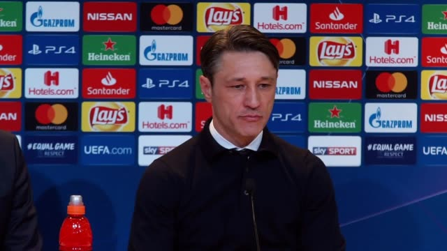 Postmatch press conference with Bayern Munich manager Niko Kovac following their 31 loss to Liverpool in the Champions League