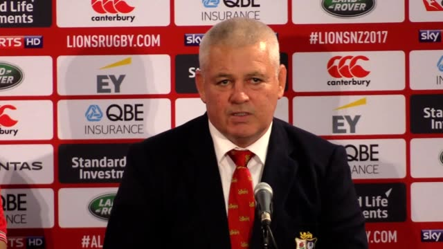 Postmatch press conference with British and Irish Lions head coach Warren Gatland and captain Sam Warburton following the 2421 second Test victory...