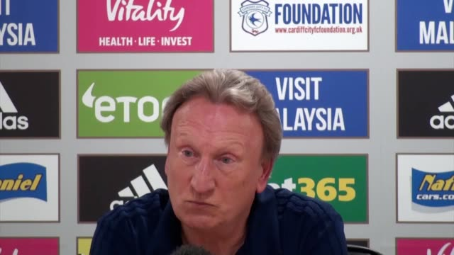 Postmatch press conference with Cardiff City manager Neil Warnock after the 31 Carabao Cup secondround loss to Norwich City