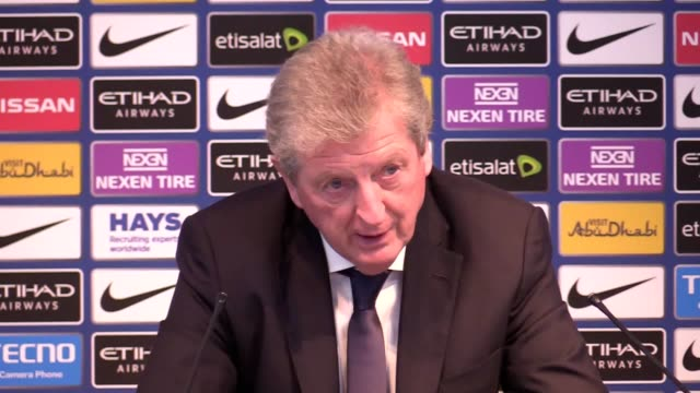 Postmatch press conference with Crystal Palace manager Roy Hodgson following their 50 loss to Manchester City in the Premier League