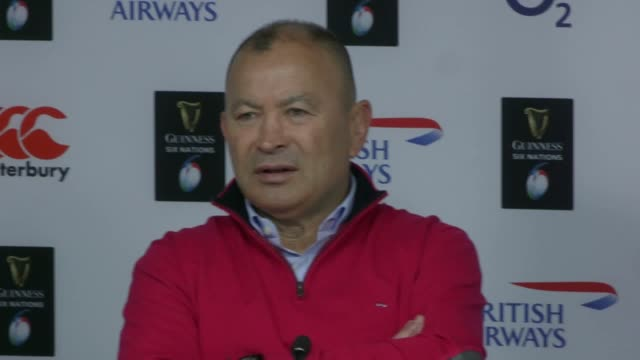 Postmatch press conference with England head coach Eddie Jones and captain Owen Farrell following the 3838 draw with Scotland in the Six Nations...