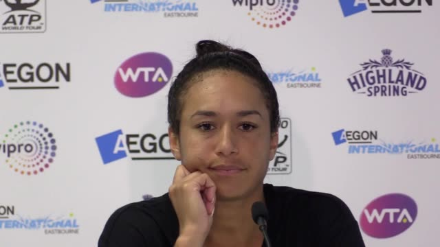Postmatch press conference with Heather Watson following her defeat at Eastbourne semifinal against Caroline Wozniacki