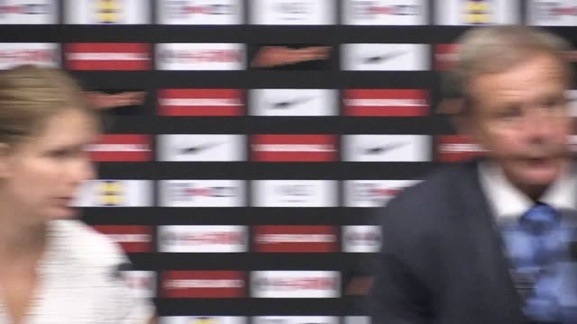 Postmatch press conference with Jan Kozak after England's 21 victory over Slovakia in their World Cup qualifying match