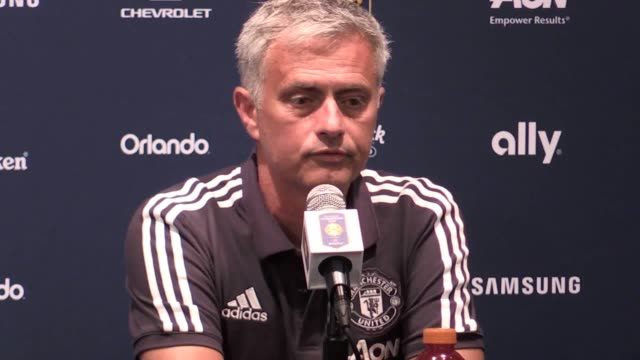 Postmatch press conference with Manchester United manager Jose Mourinho after the 20 win over Manchester City in a preseason friendly at the NRG...