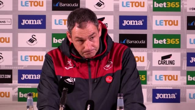 Postmatch press conference with Swansea manager Paul Clement as his side crash out of the Carabao Cup after losing to Manchester United in the fourth...