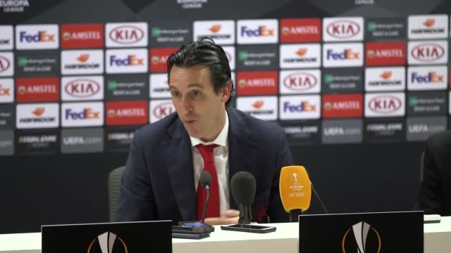 Postmatch press conference with Unai Emery after Arsenal's 30 win against Rennes in the last 16 of the Europa League