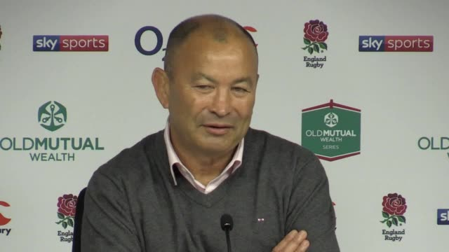 Postmatch press conferences with Eddie Jones following England's 306 victory over Australia