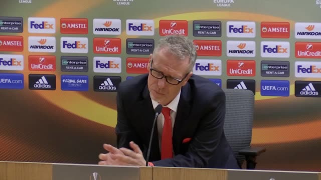 Postmatch presser with FC Koln manager Peter Stoger He reviews his sides play and what could be improved and refuses to talk about disruption from...