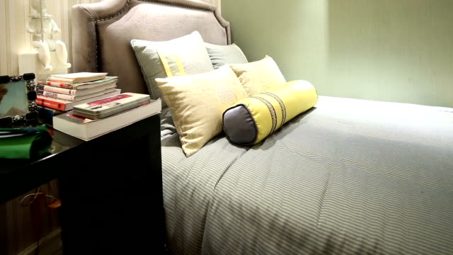 postmodern luxury bedroom and decoration, real time. - postmodern stock videos and b-roll footage