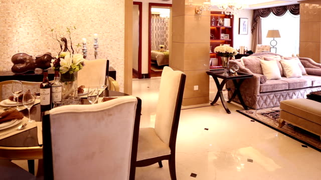 postmodern luxury living room and decoration, real time. - postmodern stock videos and b-roll footage