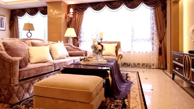ポストモダンなリビングルームと、装飾、リアルタイム。