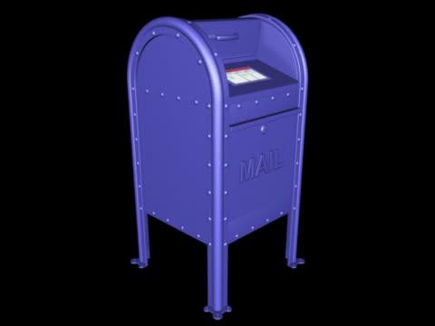 vídeos y material grabado en eventos de stock de post-office style mailbox - buzón postal