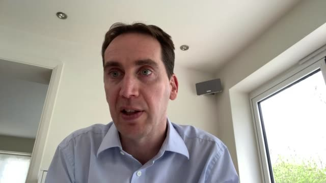 uefa postpones euro 2020 to summer 2021 england int mark bullingham interview via skype sot - campionato sportivo video stock e b–roll