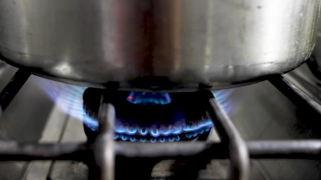 pot on the gas stove - generic location stock videos & royalty-free footage