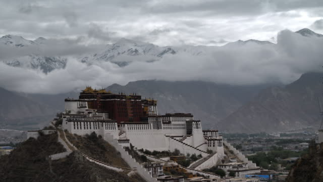 Potala Palace and mountains beyond, Lhasa, Tibet, China