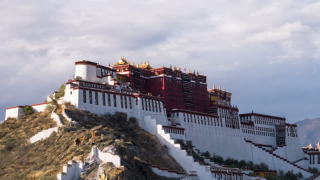 potala palace in lhasa, tibet. - tibet stock videos & royalty-free footage
