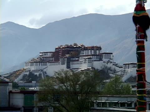zo, ws, potala palace, lhasa, tibet, china - traditionally tibetan stock videos & royalty-free footage