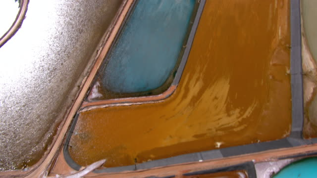 stockvideo's en b-roll-footage met potash evaporation ponds near moab, utah, seen from an aerial perspective. - moab utah