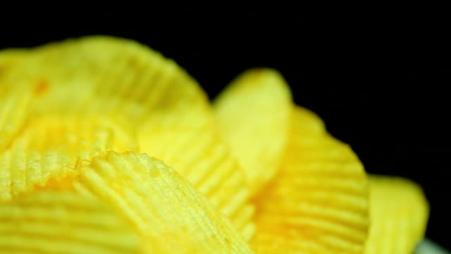 potato chips dolly shot - salty snack stock videos & royalty-free footage