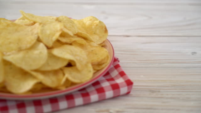potato chips - potato chip stock videos and b-roll footage