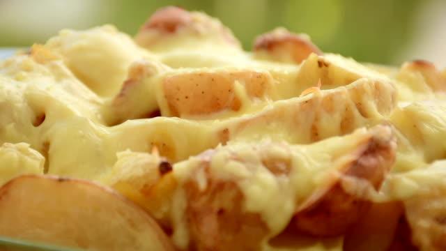potato gratin, close-up - gratin stock videos & royalty-free footage