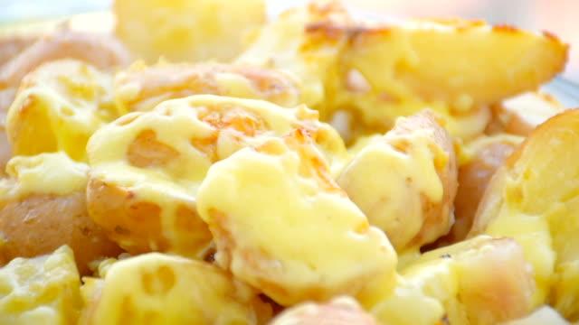potato gratin,close up - gratin stock videos & royalty-free footage